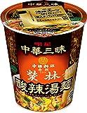 明星 中華三昧タテ型 赤坂榮林 酸辣湯麺 66g×12個