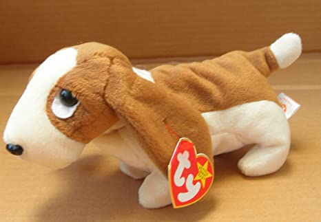 Amazon Com Ty Beanie Babies Tracker The Basset Hound Dog Stuffed