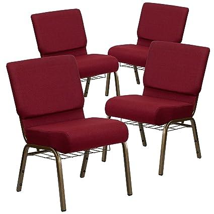 amazon com flash furniture 4 pk hercules series 21 w church chair