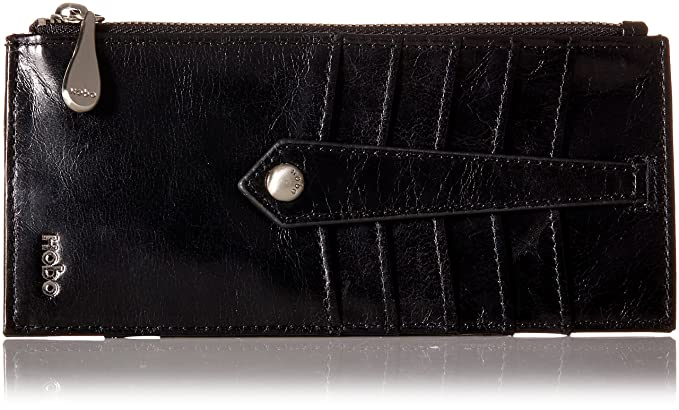 promo code 5bb8e 79fe1 HOBO Vintage Linn Wallet Credit Card Holder, Black, One Size: Amazon ...