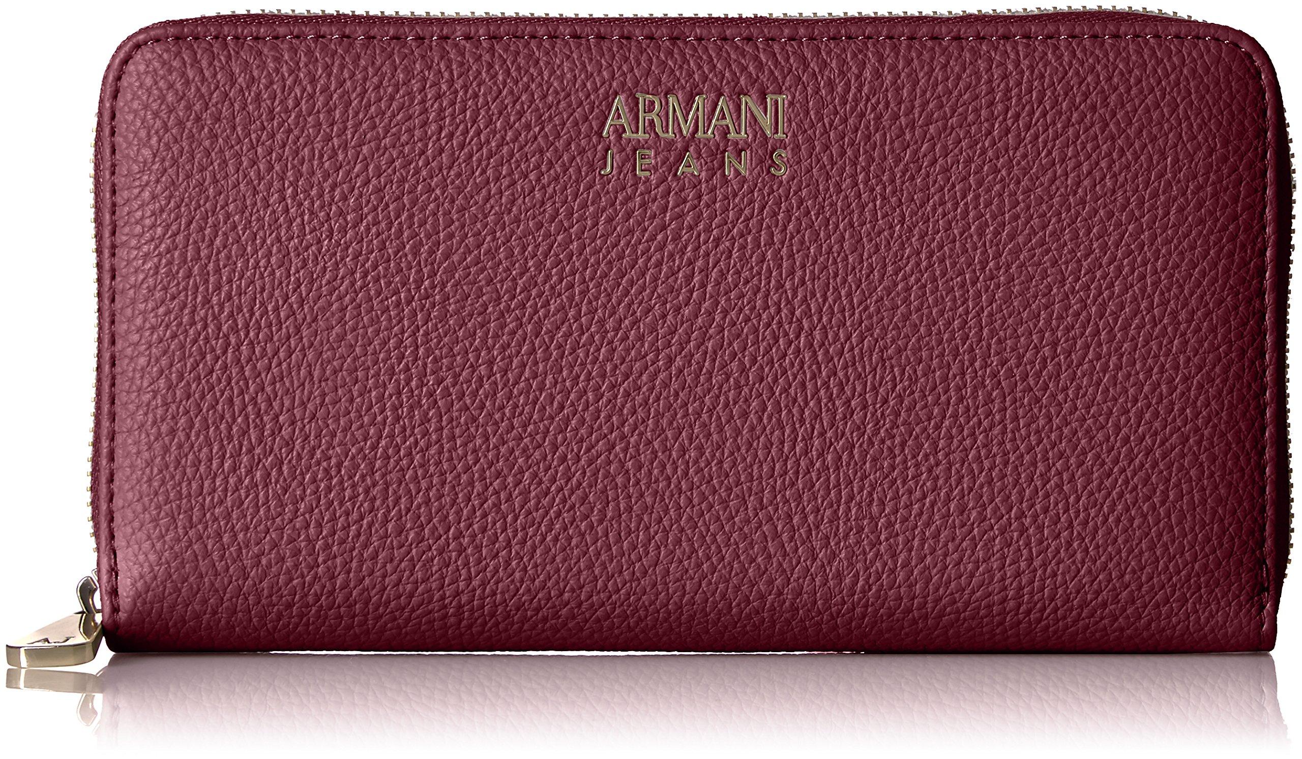 Armani Jeans Pebble Faux Leather Contential Wallet, Nero