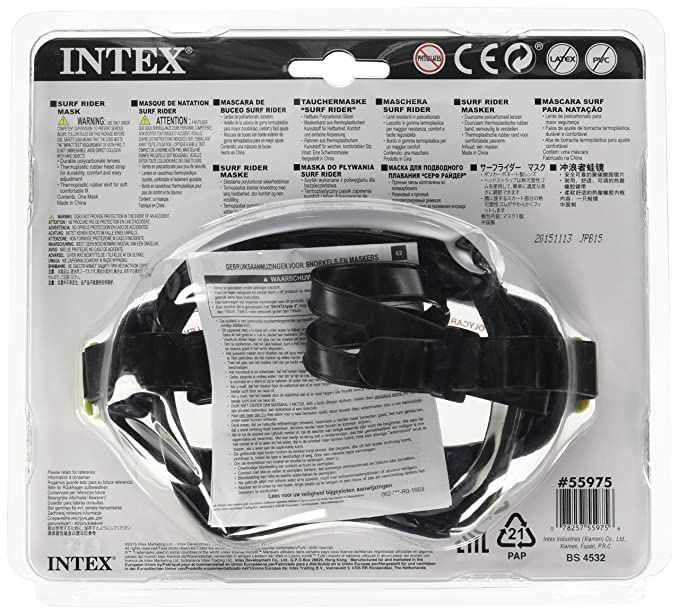 Amazon.com : Intex Surf Rider Mask Reef Snorkel Swim Face Mask Goggle (Red) : Swimming Goggles : Sports & Outdoors