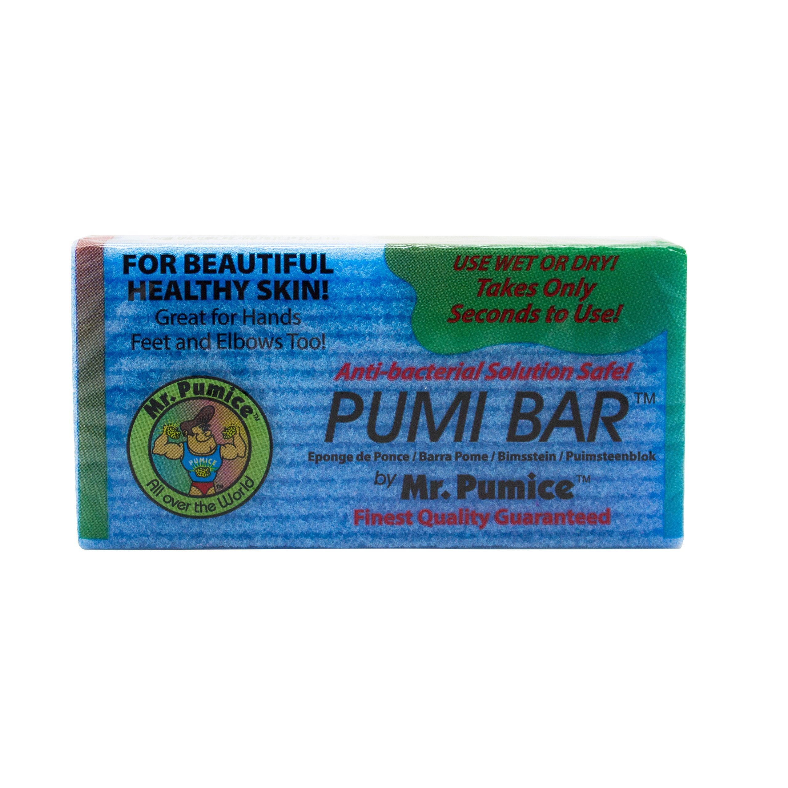 Mr. Pumice Callus Remover Pumi Bar: Pedicure Stone & Foot Scrubber - Medium Grit (6 Pack, Assorted Colors)