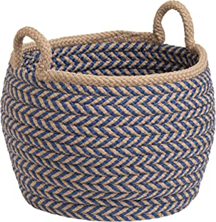 """product image for Colonial Mills Preve Basket, 12""""x12""""x12"""", Taupe & Blue"""