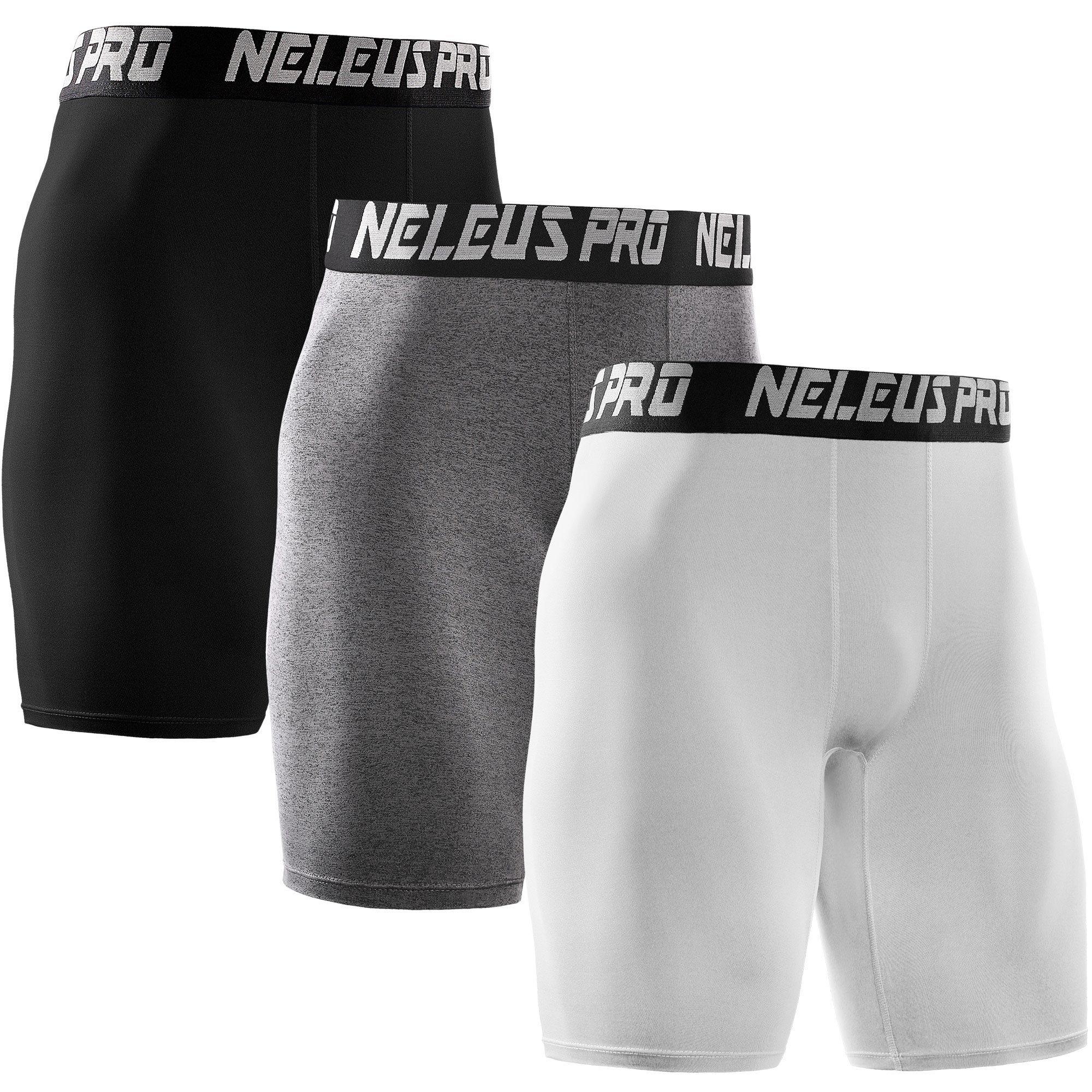 Neleus Men's 3 Pack Athletic Compression