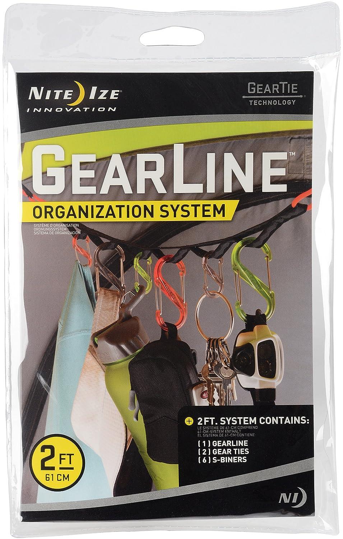 NITE IZE® Gearline Organisationssystem Camping-Zelt-Leine Karabiner Organizer