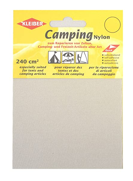 Kleiber Canvas Style Self-Adhesive Waterproof Nylon Repair 2 Patches (10cmx12cm Each) -