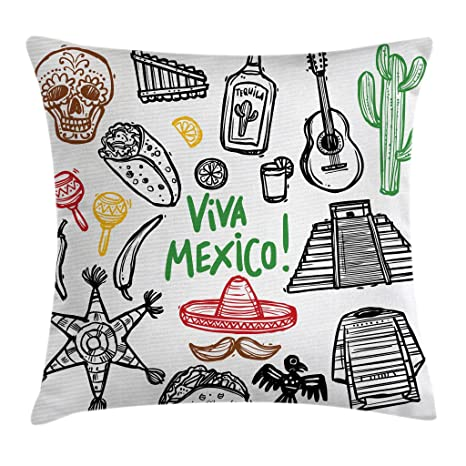 Review Ambesonne Mexican Decorations Throw