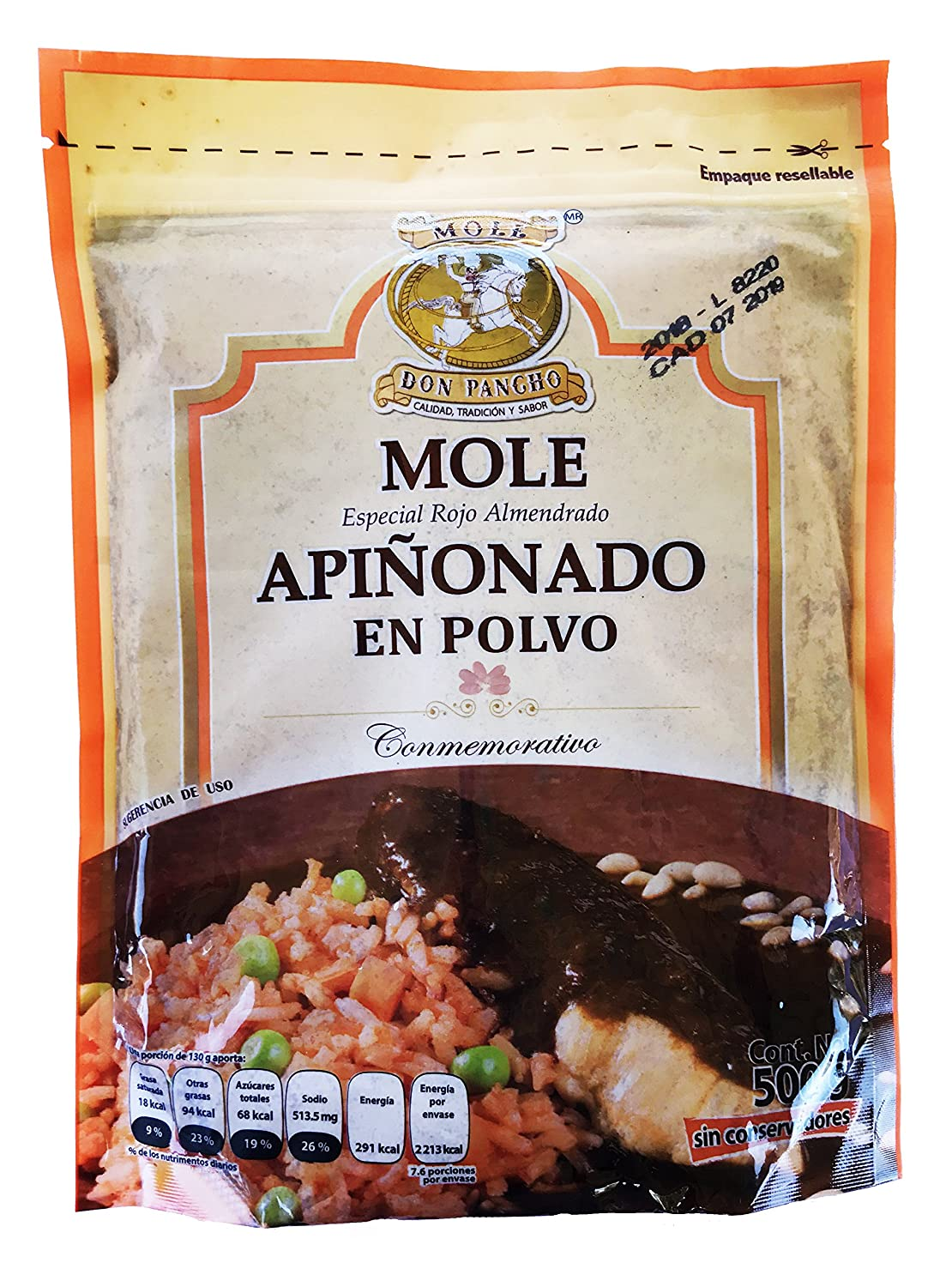 Amazon.com : Combo Mole Don Pancho Red Almond Touch and Red Pine Nut Touch : Grocery & Gourmet Food