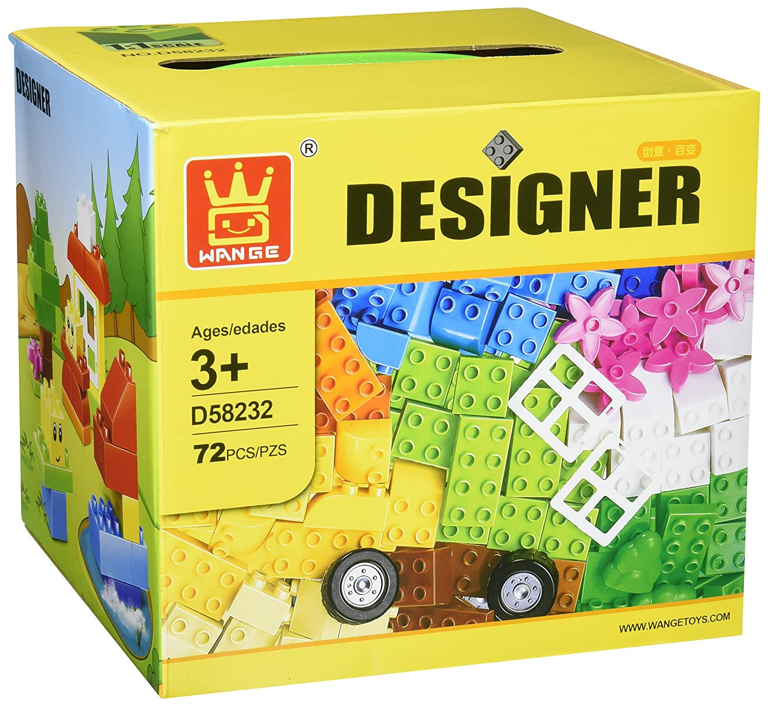 Amazon.com: Little Builder Designer building blocks for toddlers ...