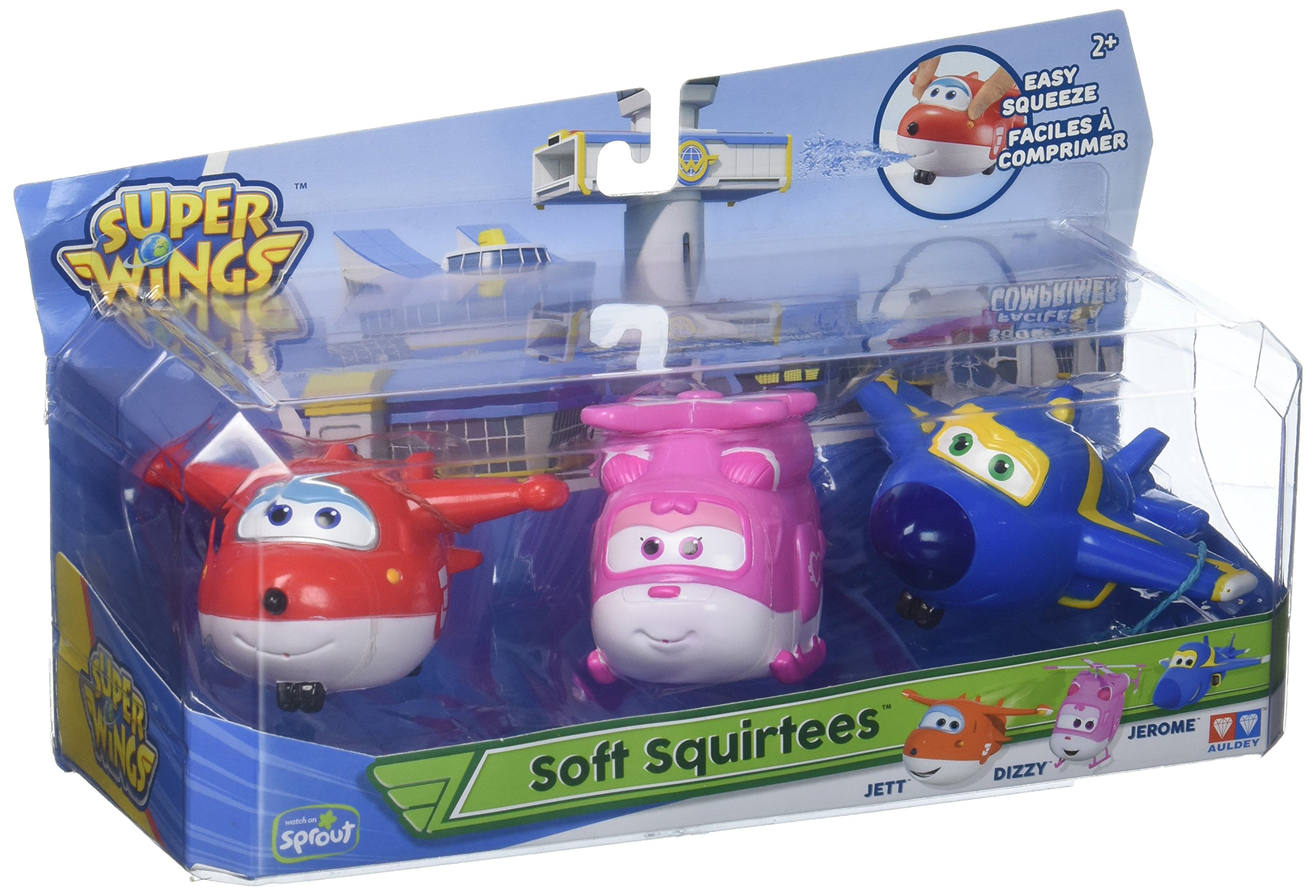 Super Wings - Water Squirtees for The Bath- 3 Pack Toy Figure