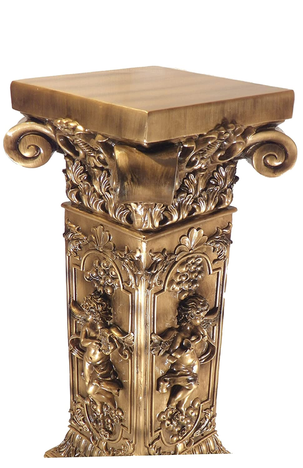 Amazoncom French Golden Floor Table Plant Stand Furniture - Column pedestal plant stand