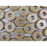 x2 Solid Lacquered Oak Pipe covers/ Rad Rings/ Pipe Rose/ Collar 10mm High by Oak Pipe Cover lacquered - pre-finished
