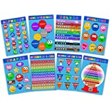 Laminated Educational Posters for Toddlers & Kids - Preschool & Kindergarten Children Learning Kit - Set of 8 - Alphabet - Numbers - Days of the Week - Months - Colors - Shapes - Feelings Chart