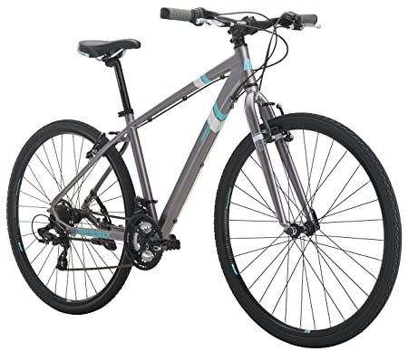 Diamondback Bicycles Calico St Women's Dual Sport Bike Small/16 Frame, Silver, 16'/ Small
