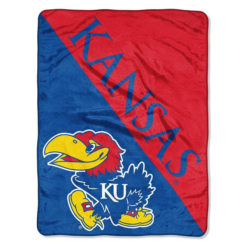 The Northwest Company Officially Licensed NCAA Kansas Jayhawks Halftone Micro Raschel Throw Blanket 46 x 60