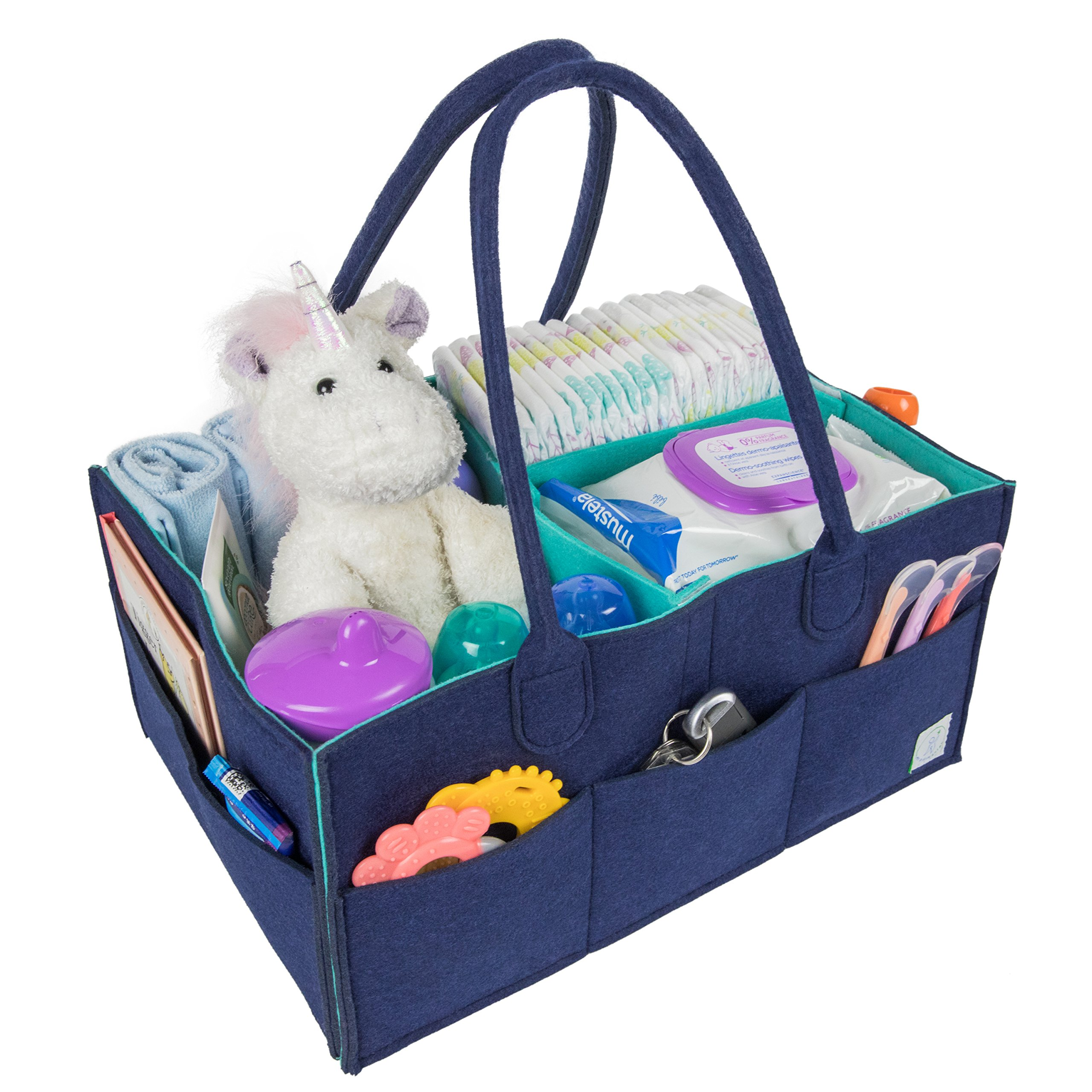 Nursery Diaper Tote Bag Detachable Nappy Diaper Organizer for Changing Table Car Organizer for Diaper /& Baby Wipes Travel Baby Diaper Caddy Bag softeen Baby Caddy Organizer Nursery Storage
