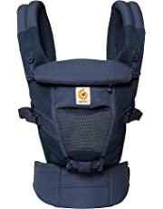 Ergobaby Baby Carrier for Newborn to Toddler up to 20kg, Adapt 3-Position Cool Air Mesh, Deep Blue