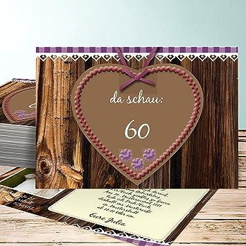 Einladungskarten 60 Geburtstag Selber Machen Wiesnherz Mit Foto 60