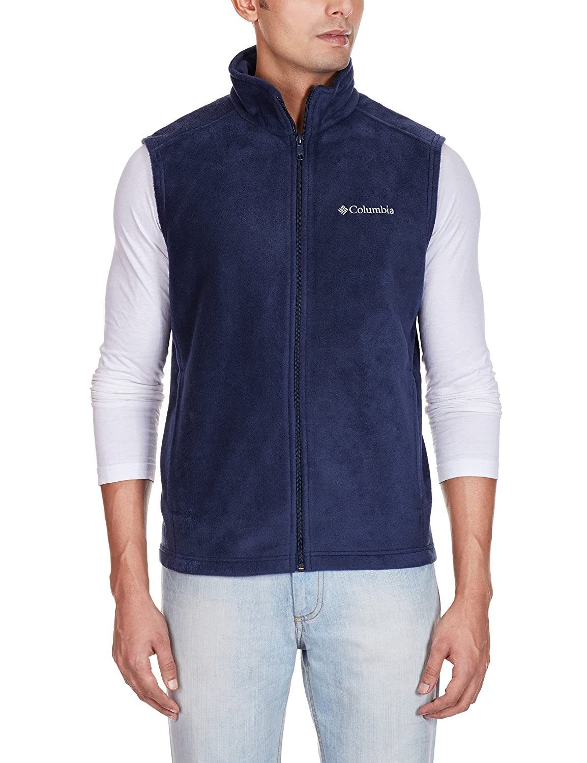 Columbia mens Cathedral Peak Front-zip Fleece Vest Columbia Men's Outerwear 1519151