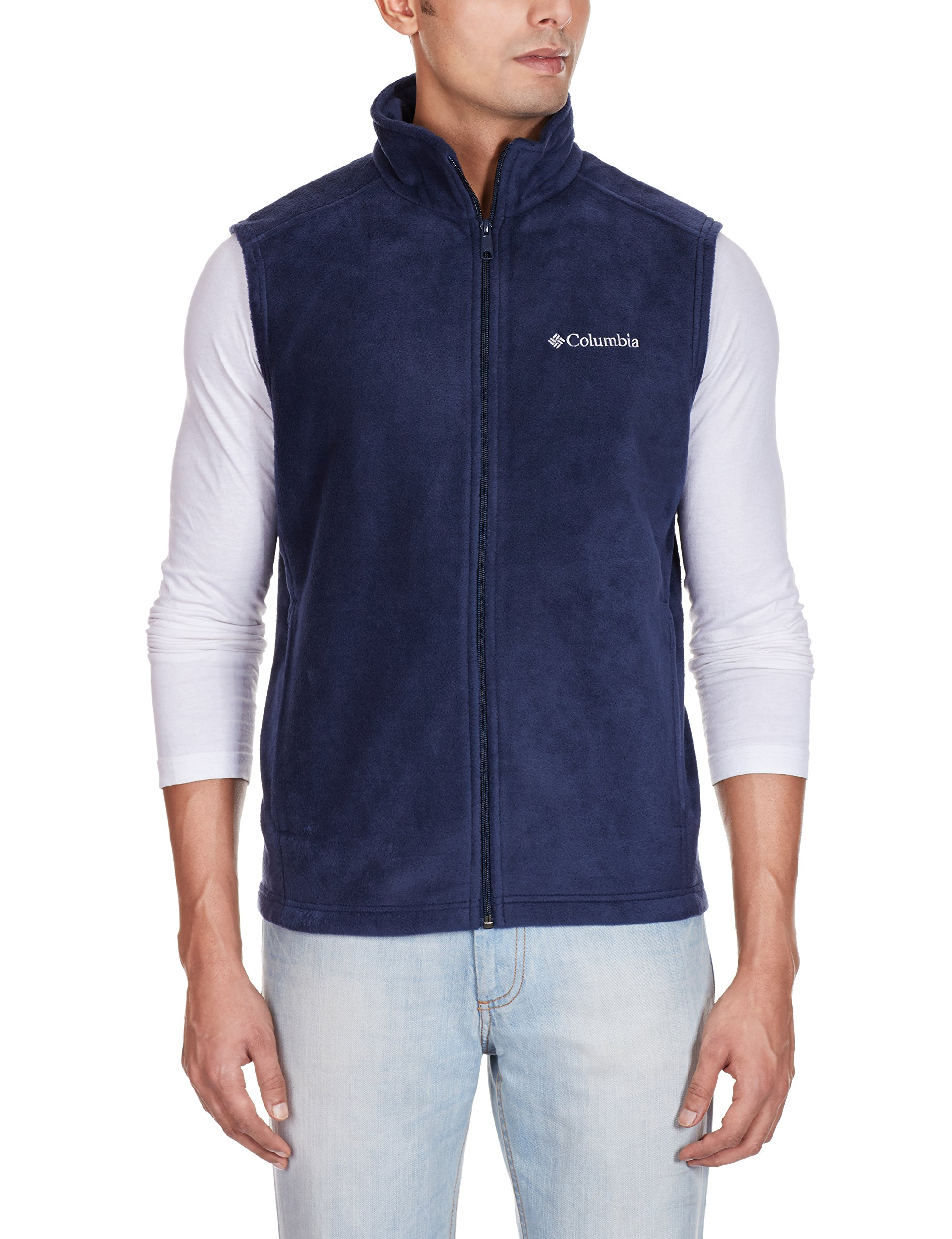 Columbia Men's Cathedral Peak II Fleece Vest, Collegiate Navy, Large