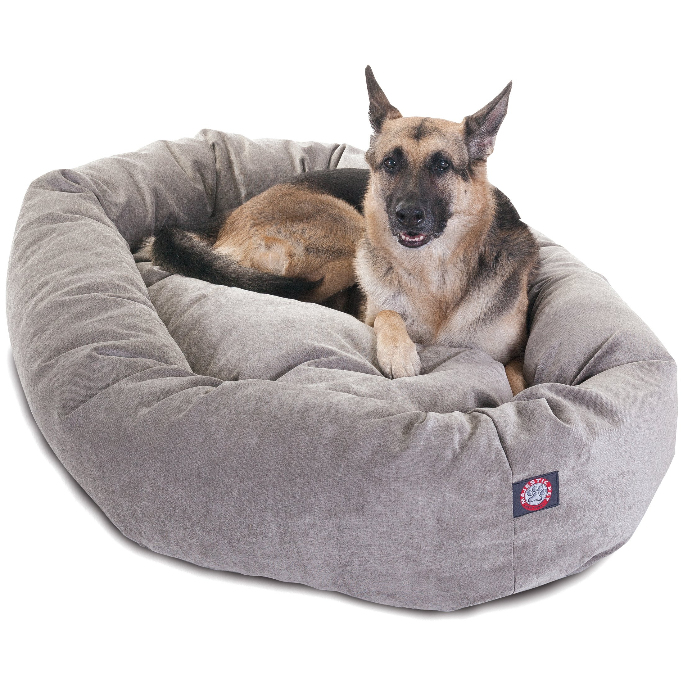 52 inch Vintage Villa Collection Micro Velvet Bagel Dog Bed By Majestic Pet Products by Majestic Pet (Image #1)