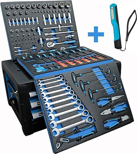 Taller móvil DeTec Blue Edition, incluye herramientas: Amazon.es: Bricolaje y herramientas