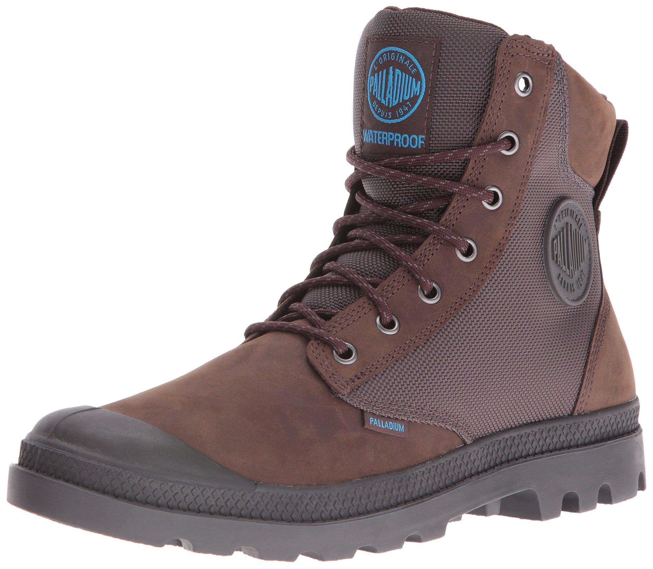 Palladium Boots Pampa Sport Cuff Wpn Waterproof Boots, Chocolate/ForgedIron,4
