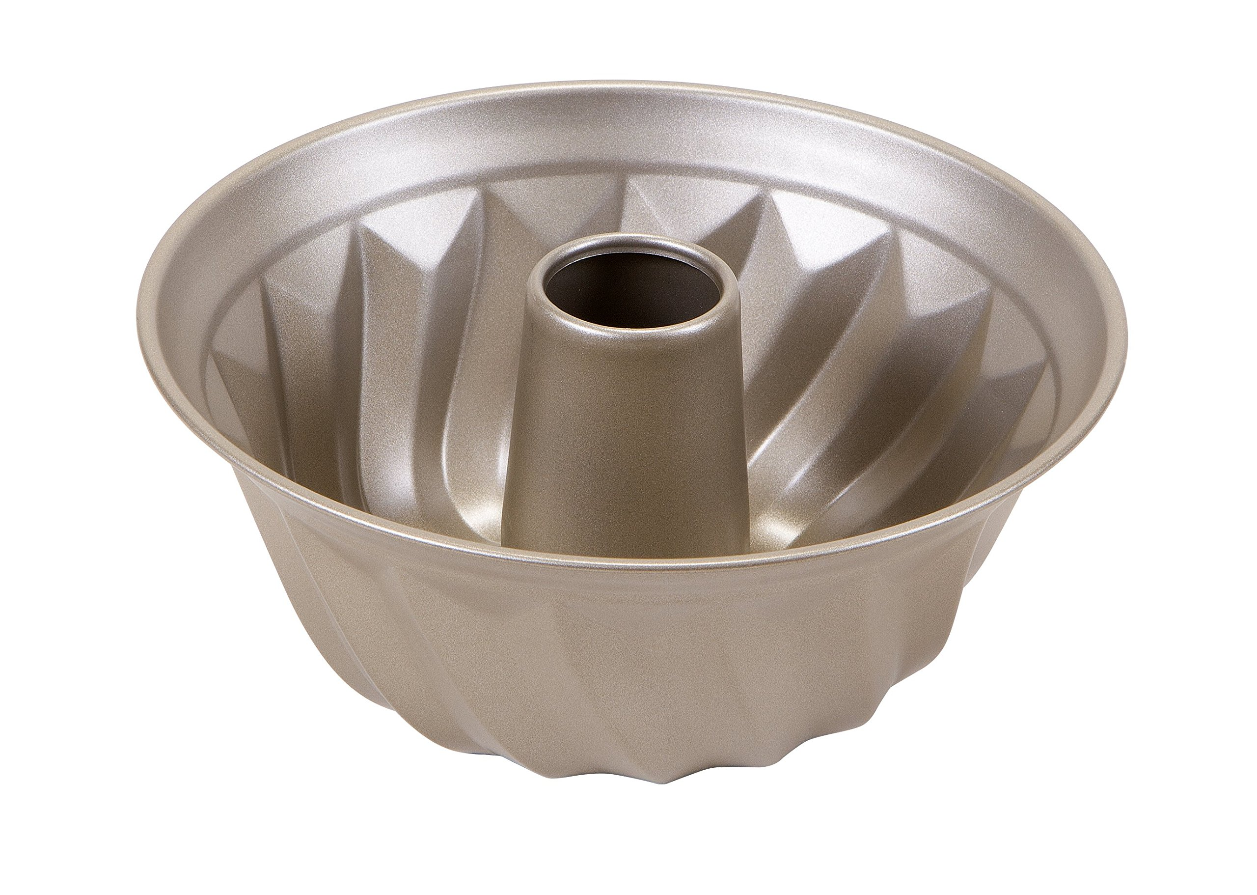 Art and Cook Non-Stick Carbon Steel Bundt Form Pan, 9.5'', Champagne