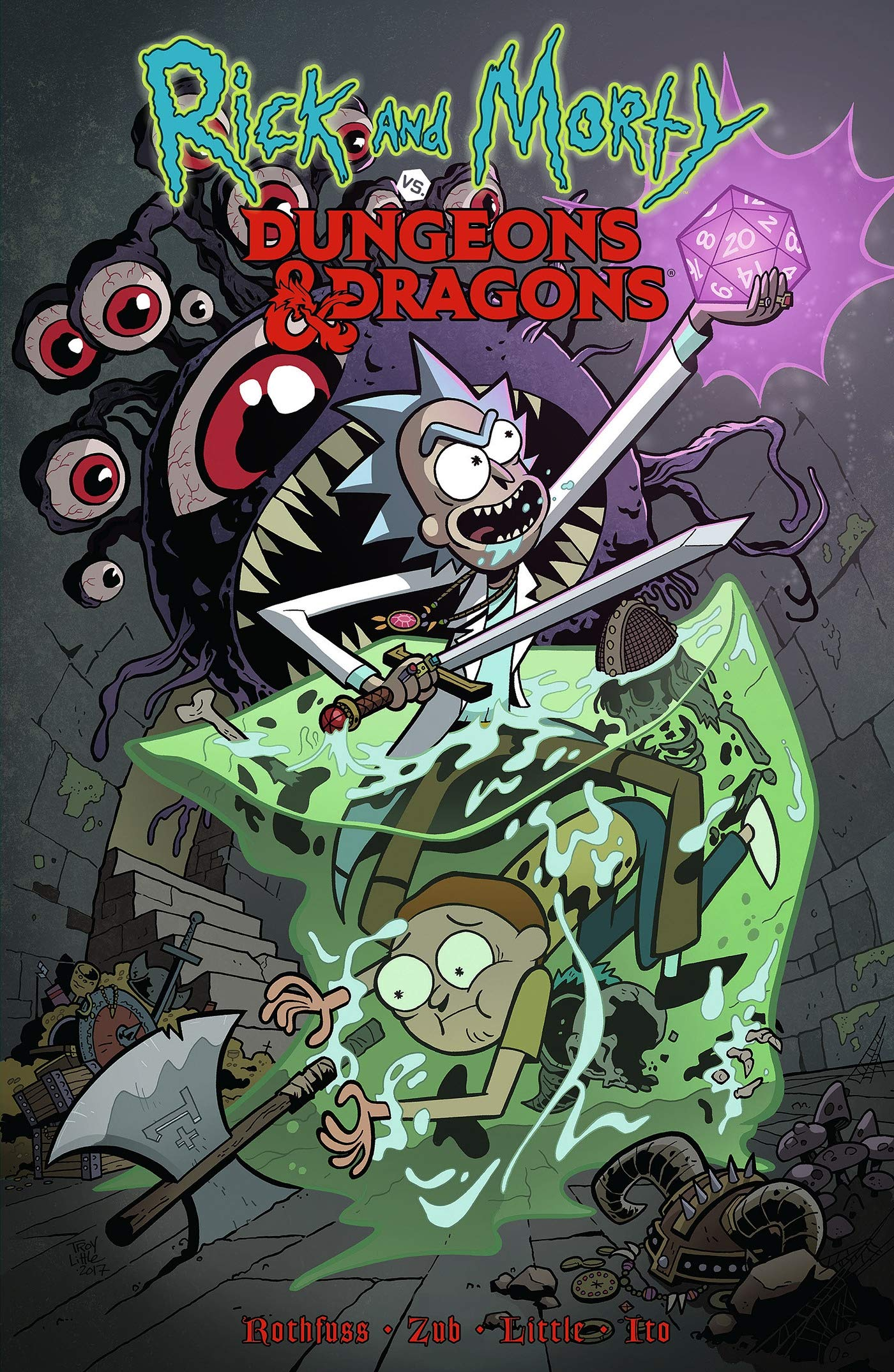 Amazon Com Rick And Morty Vs Dungeons Dragons 9781684054169 Rothfuss Patrick Zub Jim Little Troy Books