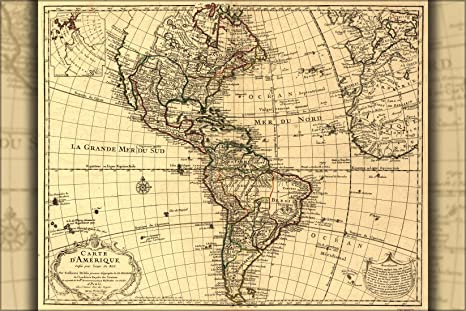 Amazon 24x36 poster map of north south america united 24x36 poster map of north south america united states 1780 antique reprint gumiabroncs Images