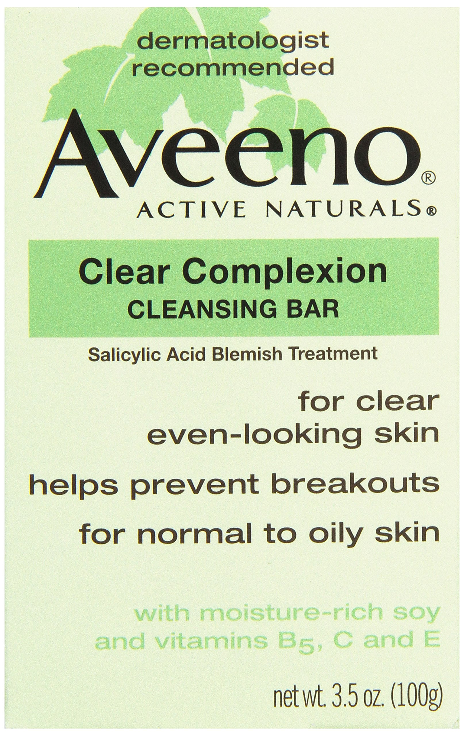 Aveeno, Facial Bars Clear Complexion Cleansing Bar, 3.5 oz