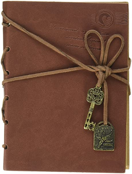 Completely new Amazon.com : OliaDesign Diary String Key Leather Bound Notebook  PE72