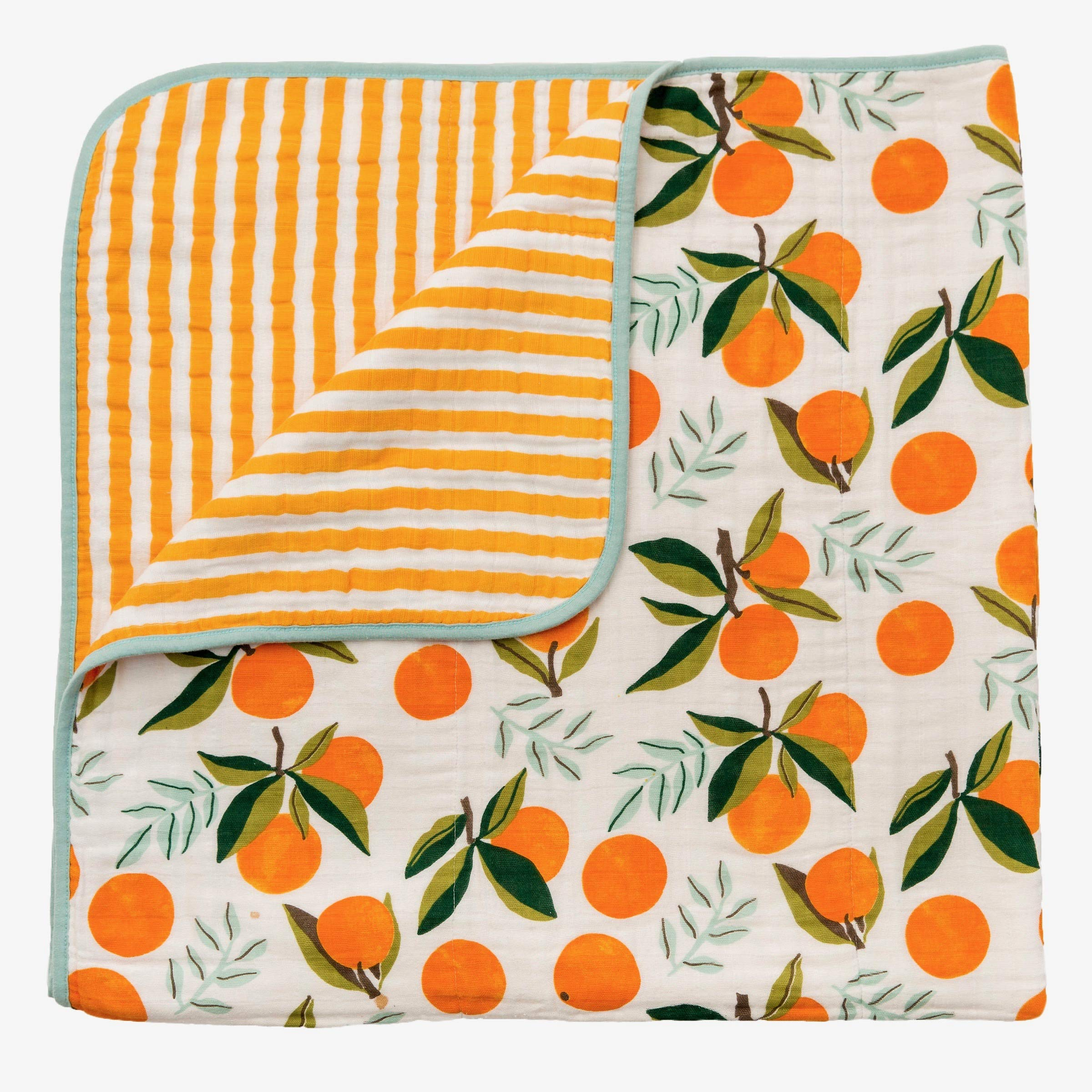 Clementine Reversible Quilt Cotton Muslin for Baby
