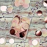 """Large Set of 60 PREMIUM 12"""" Rose Gold Confetti"""