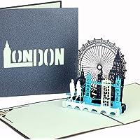 """3D Pop Up Karte""""London Calling!"""" - Klappkarte London - Streetlife & Skyline, Reisegutschein & Geschenkgutschein Städtetrip London"""