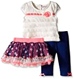 Little Lass Baby Girls' 3 Piece Tutu Set Polka Dot Tulle, Ivory, 12 Months