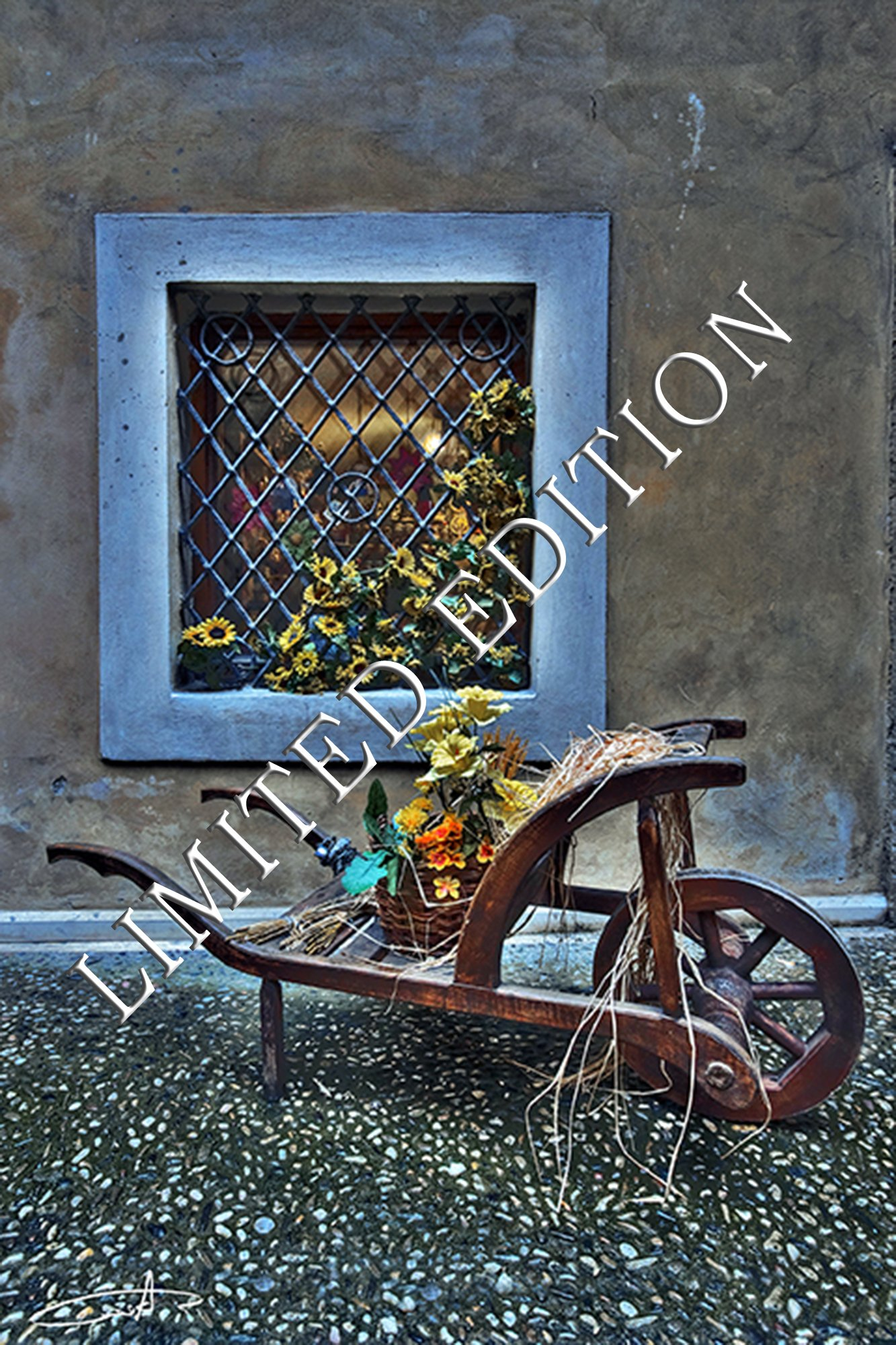 The Blue Window - Limited Edition (Only 20 copies world-wide) - 28''x43''(73x110cm) - By Aderet. Made in Germany