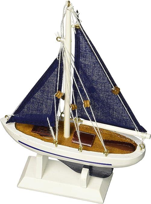 Hampton Azul náutico velero con Adorno de árbol de Navidad Azul Velas 9