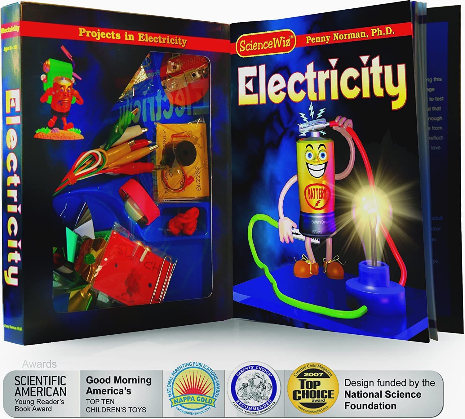 Amazon ScienceWiz Electricity Kit Penny Ph D Norman Art