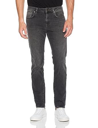 SELECTED HOMME Herren Slim Jeans Shnslim-Leon 1005 Grey ST Jns Noos, Grau (
