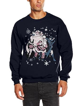 DC Comic Christmas Batman & Robin Santa Claus-Sudadera Hombre, ...