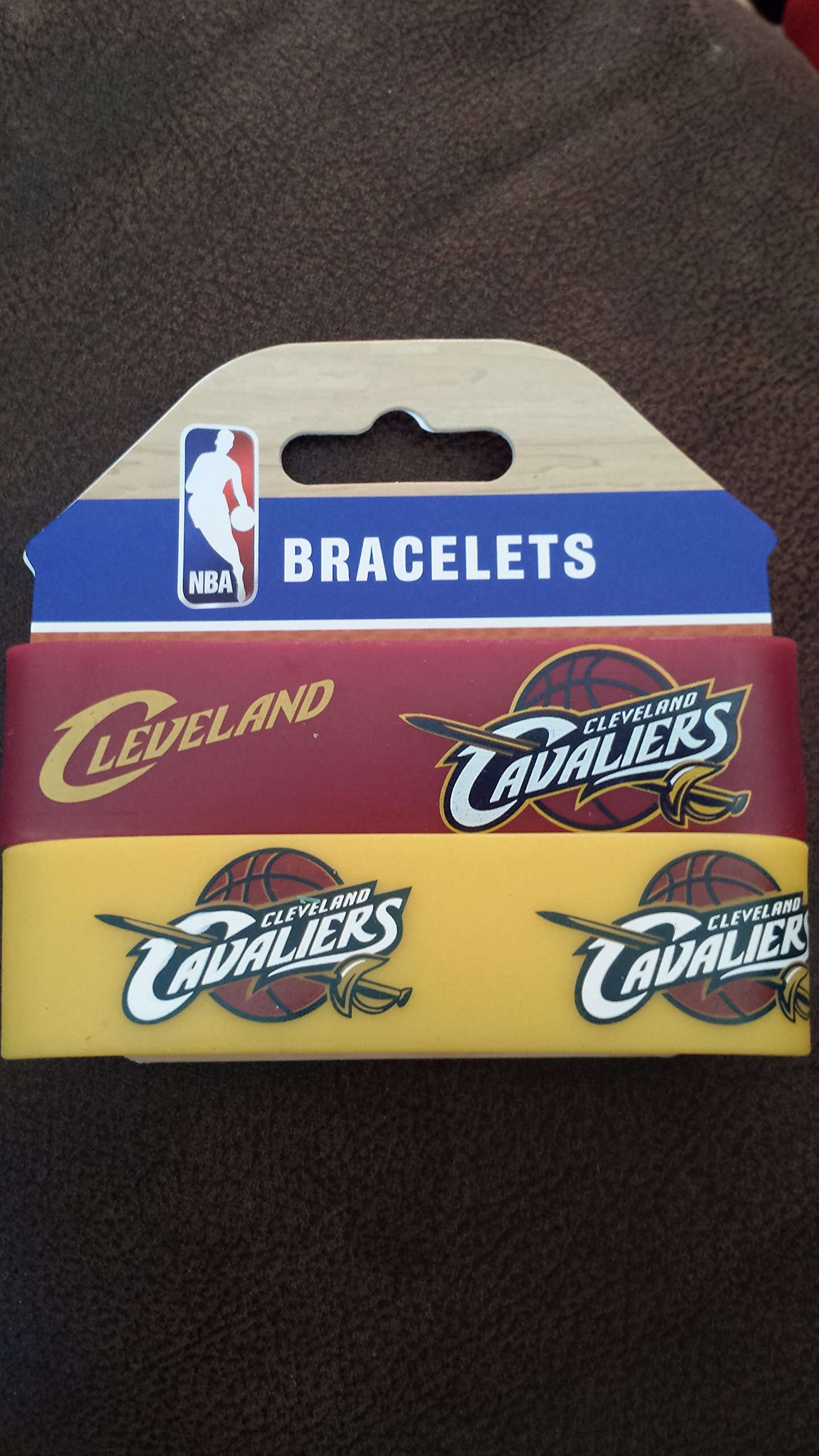 Cleveland Cavaliers 2 Pack Rubber Bracelet by aminco