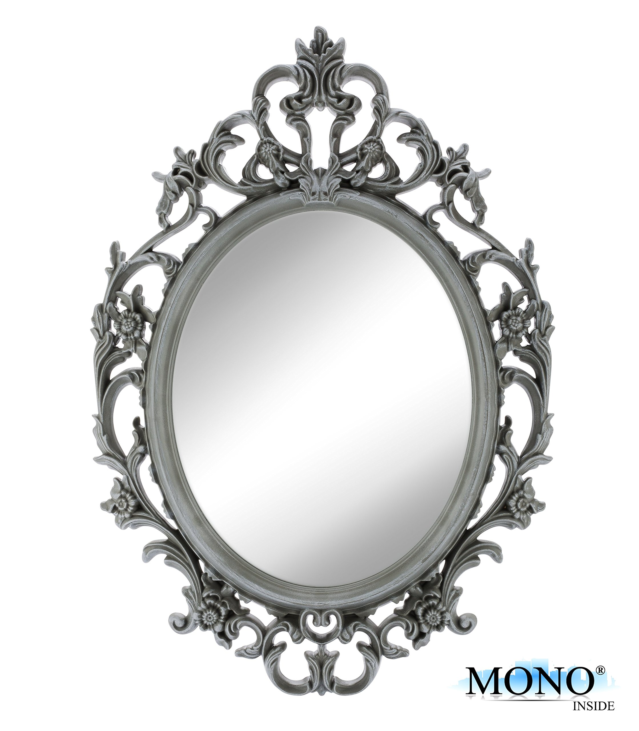 Galleon Monoinside Small Decorative Framed Oval Wall Mounted Mirror Vintage Amp Classic Baroque
