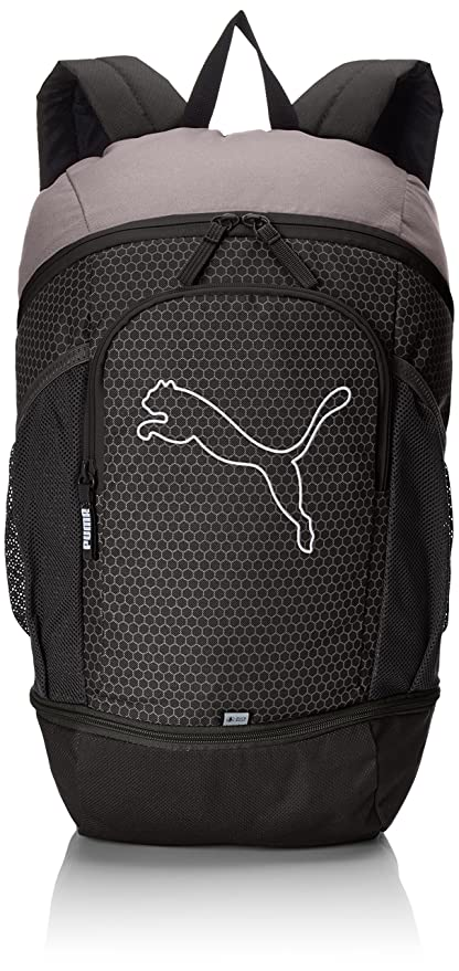 c719b399e7cb Puma 17 Ltrs Black and Quiet Shade Laptop Bag (7439601)  Amazon.in  Bags