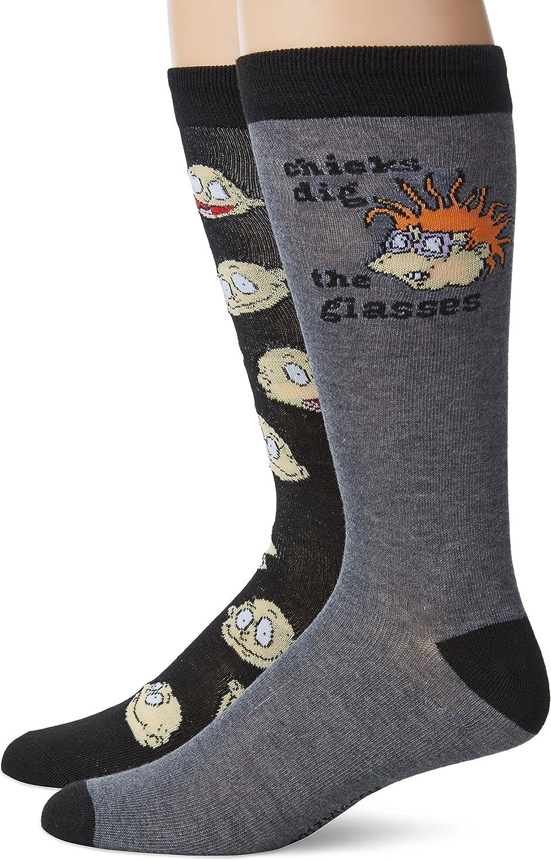 Rugrats Men's 2 Pack Crew Socks