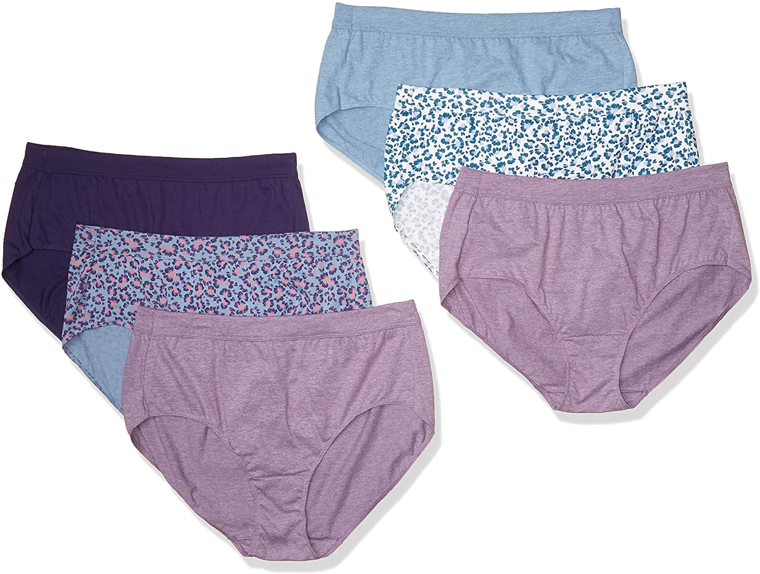Just My Size Womens Cool Comfort Ultra Soft Brief 6-Pack Briefs
