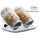 Mason Jar Seed Sprouting Lid Stand -Stand Only (2 Pack) …