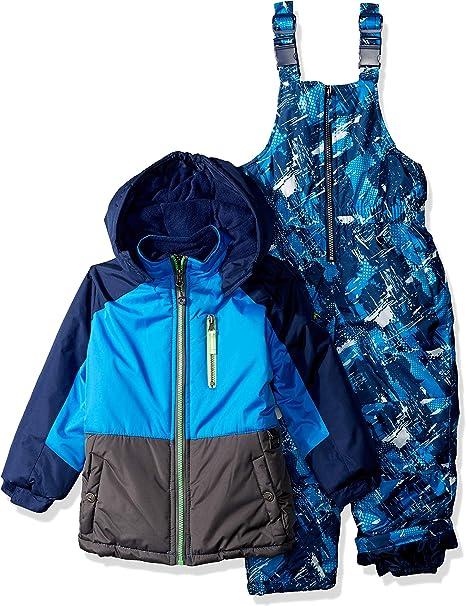 iXtreme Big Boys/' Tonal Print Snowsuit W//Gaiter BLUE