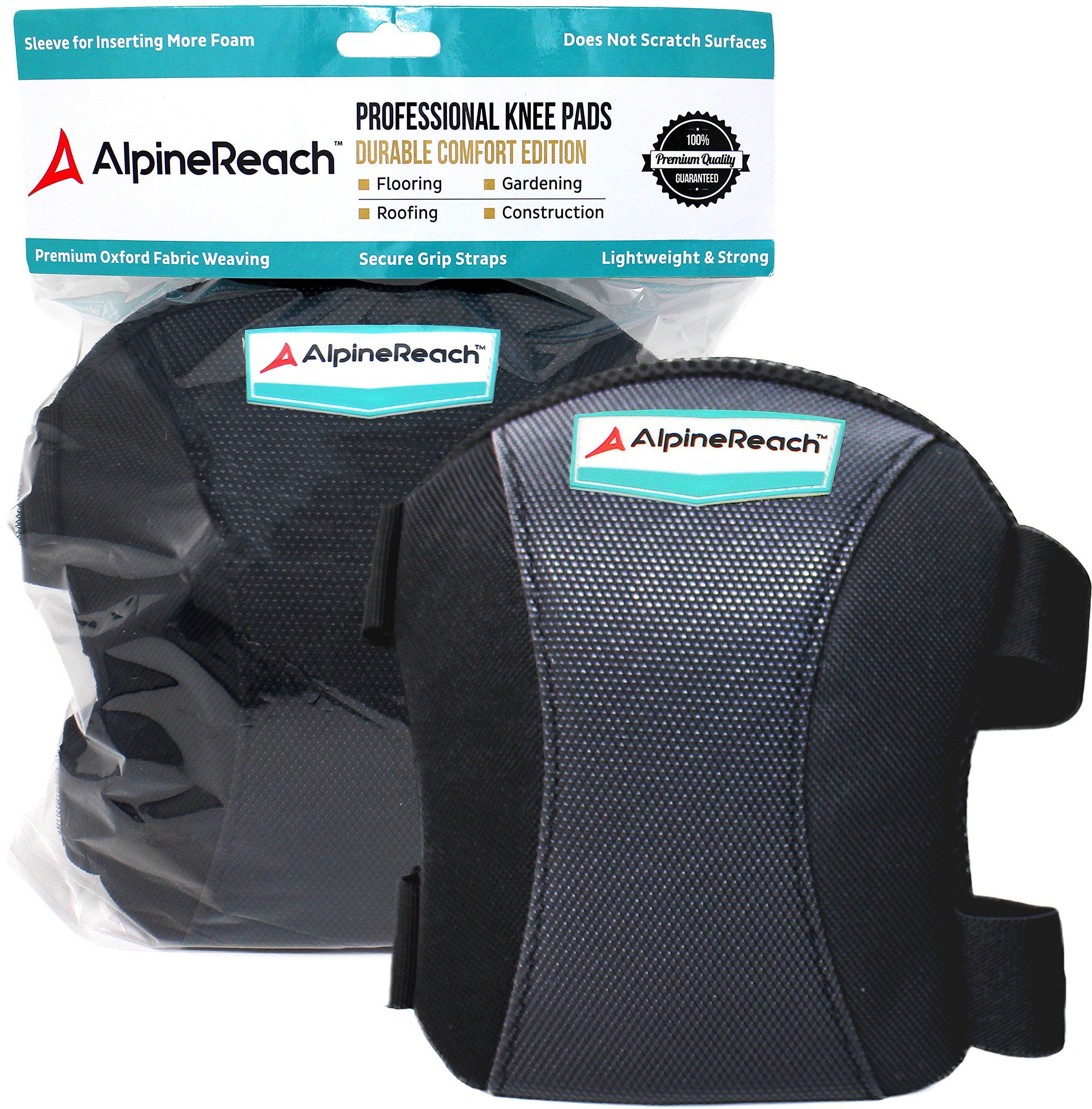 Durable Comfort Knee Pads for Work, Cleaning, Construction, Flooring, Gardening | Soft High Density Foam Inserts, Professional & Light Weight with Adjustable Non Slip Straps | Men & Women